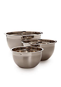3-Piece Stainless Mixing Bowl Set