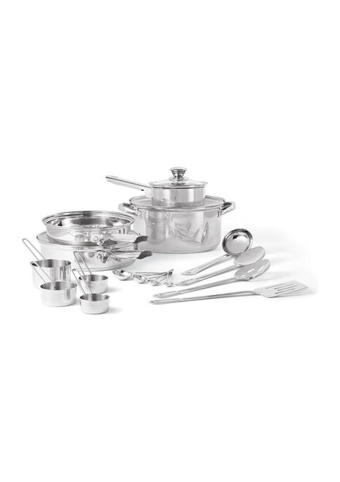 Cooks Tools™ 19 Piece Stainless Steel Cookware Set