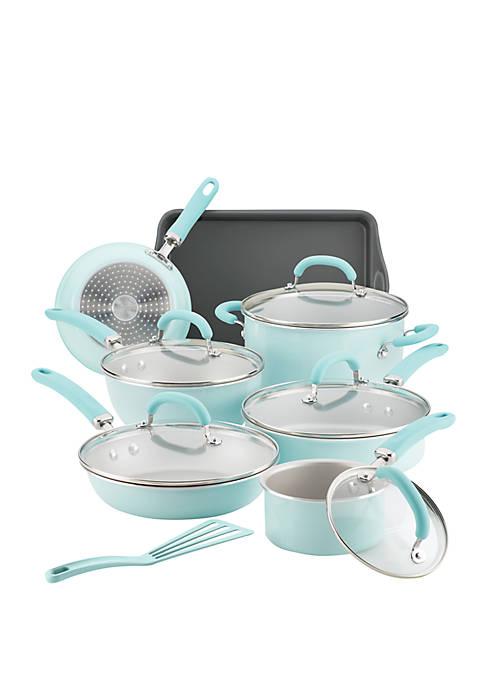 Create Delicious Aluminum Nonstick Cookware Set 13 Piece Set