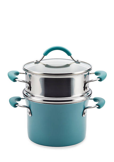 Rachael Ray Cucina Hard Enamel Nonstick 3-qt. Covered