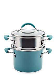 Cucina Hard Enamel Nonstick 3-qt. Covered Multi-Pot Set with Steamer