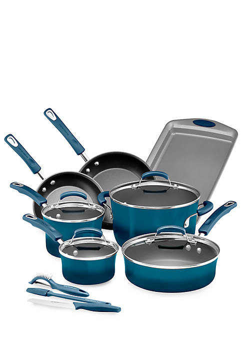 Classic Brights Hard Enamel Nonstick 14 Piece Cookware Set