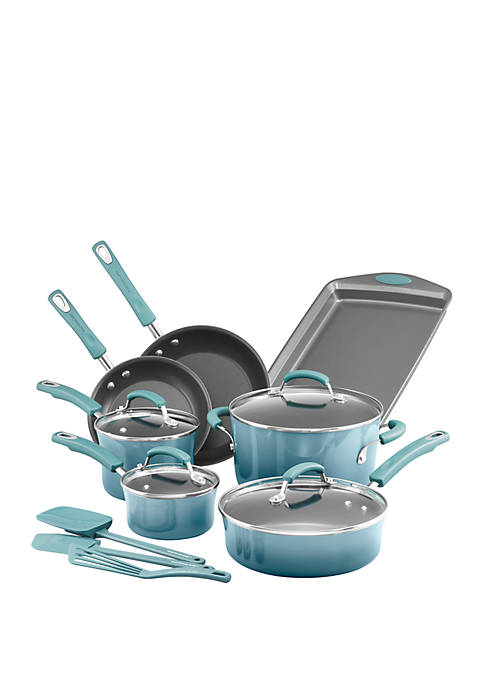 Rachael Ray Classic Brights Porcelain Nonstick 14 Piece