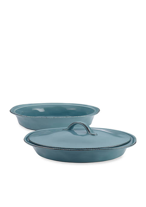 Rachael Ray 3-pc. Stoneware Round Casserole and Lid