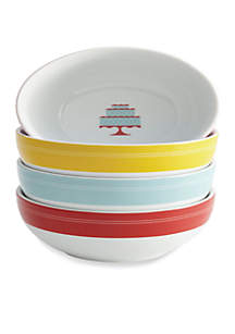 4-pc. Porcelain Ice Cream Bowl Set