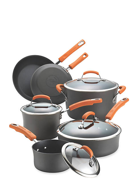 Hard-Anodized Nonstick 10-Piece Cookware Set - Online Only