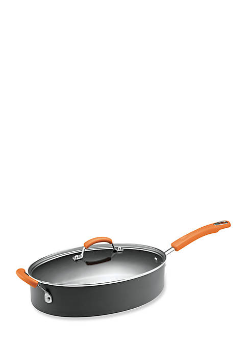 Hard-Anodized Nonstick 5-qt. Covered Oval Saute Pan