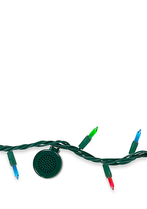 Bright Tunes Indoor/Outdoor Multi-Colored Incandescent String Lights with Bluetooth Speakers