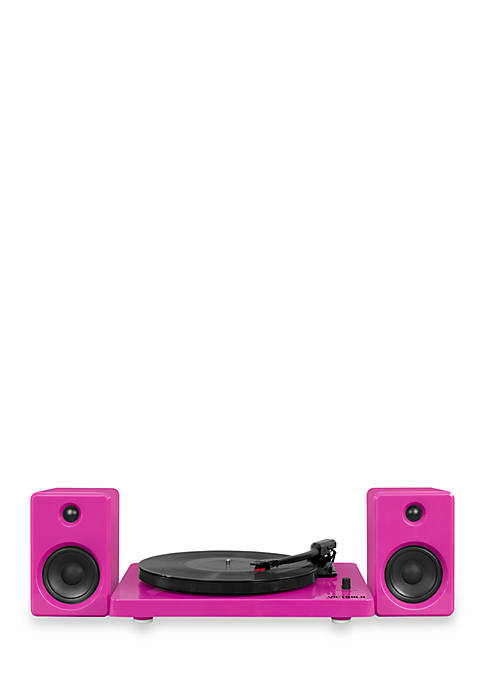 Modern design 50-watt Record Player with Bluetooth and 3-speed Turntable