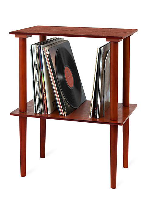 Wooden Stand with Record Holder