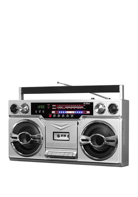 Innovative Technology 1980s Bluetooth Boombox with Cassette