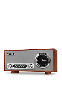 Bluetooth Analog Clock Stereo with FM Radio and USB Charging