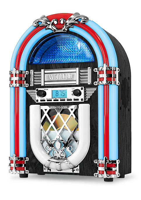 Victrola Nostalgic Wood Desktop Jukebox with Built-in Bluetooth