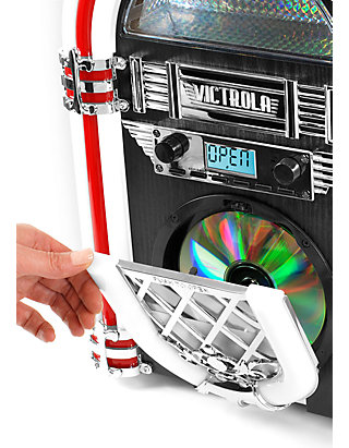 Nostalgic Wood Desktop Jukebox with Built-in Bluetooth and CD Player