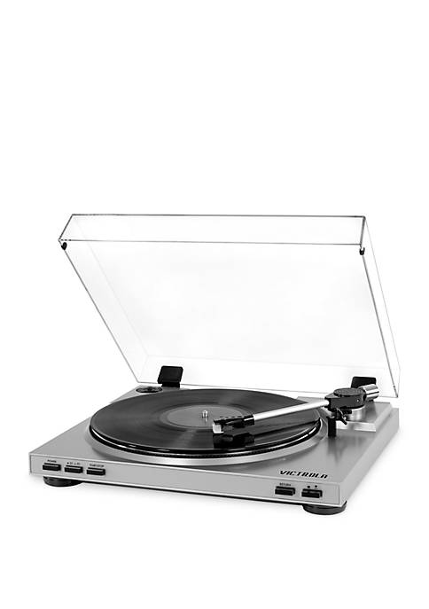 Pro USB Record Player with 2-Speed Turntable and Dust Cover