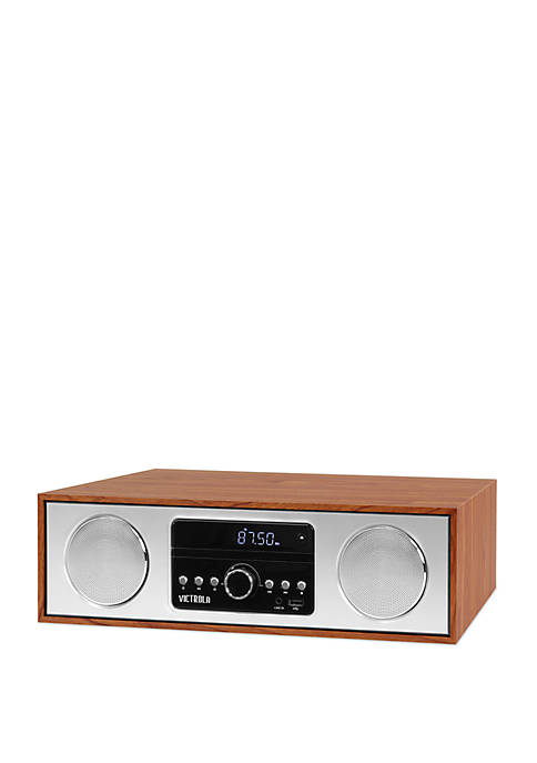 Victrola 30 Watt Wooden Bluetooth Microsystem with CD,