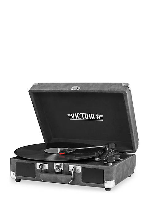 Victrola Bluetooth Suitcase 3-Speed Turntable Record Player