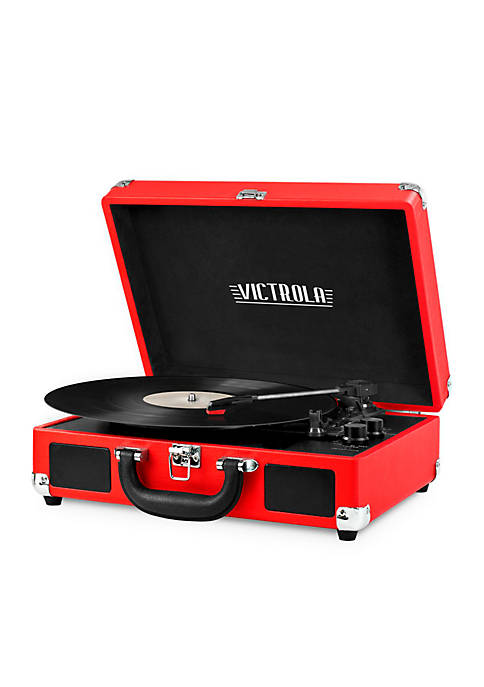 Portable Suitcase Record Player with Bluetooth