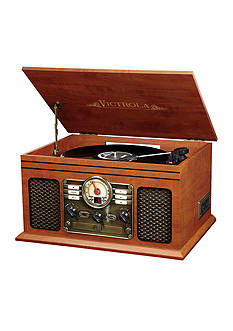 Innovative Technology Victrola 6-in-1 Bluetooth Nostalgic Entertainment Center VTA200B