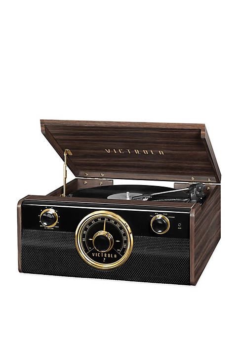 Victrola Wood Bluetooth Mid Centry Record Player with
