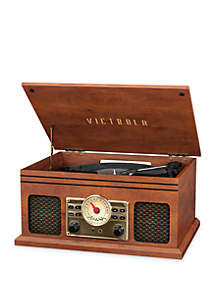 Victrola 4-in-1 Nostalgic Bluetooth Turntable with 3-Speed Record Player and FM Radio