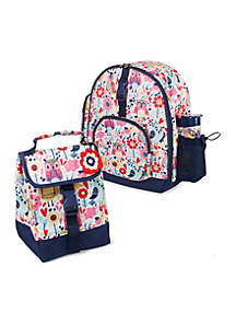 Lola Backpack & Lunch Bag Set with Water Bottle