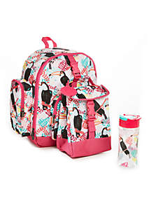 Lola Backpack - Pink Toucan Tropics