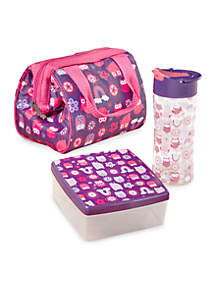 Riley Insulated Lunch Bag Kit with Water Bottle and Chilled Sandwich Container