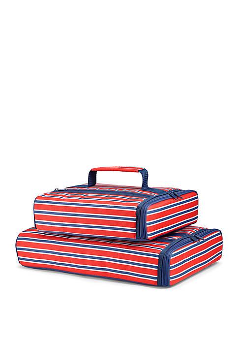 Fit & Fresh Americana Stripe Insulated Casserole Carrier