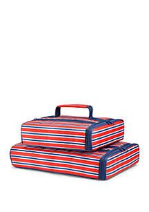 Fit & Fresh Americana Stripe Insulated Casserole Carrier Set