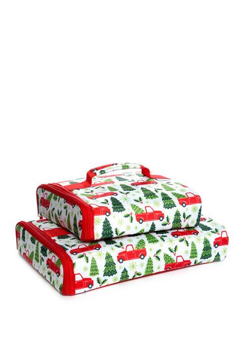 Fit & Fresh White Farmhouse Christmas Casserole Carrier