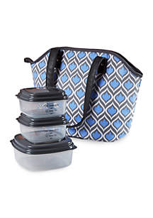 Westford Insulated Lunch Bag Kit with Reusable Container Set