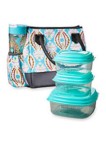 McAllen Insulated Lunch Bag Kit with Portion Control Container Set and Water Bottle