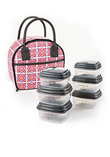 Carson Insulated Lunch Bag with Portion Control Container Set