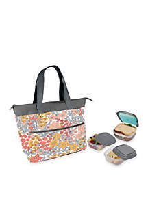 Ashburn Insulated Lunch Bag Kit with Reusable Container Set and Ice Pack