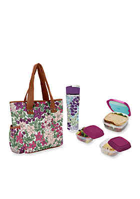 97f4e8a9674 Fit   Fresh Hutchinson Insulated Lunch Bag Kit with Reusable Container Set  and 20-oz ...