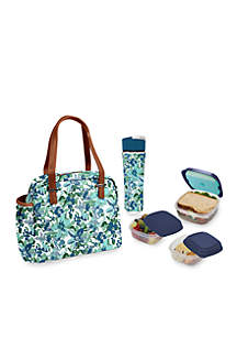 Laketown Insulated Lunch Bag Kit with Reusable Container Set and 20oz Water Bottle