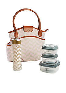 Sumter Pink Lunch Bag with Portion Control Container Set and Water Bottle
