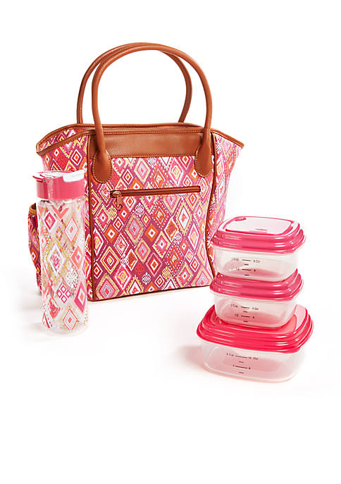 Fit & Fresh Stamford Omega Ikat Lunch Kit