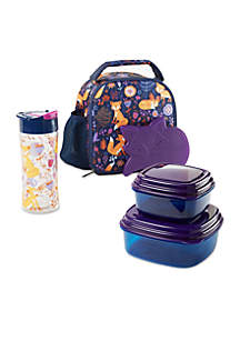 Fit & Fresh Lillie Insulated Lunch Bag with Container Set and Water Bottle