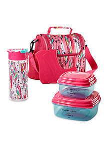 Melissa Insulated Lunch Bag with Container Set and Water Bottle