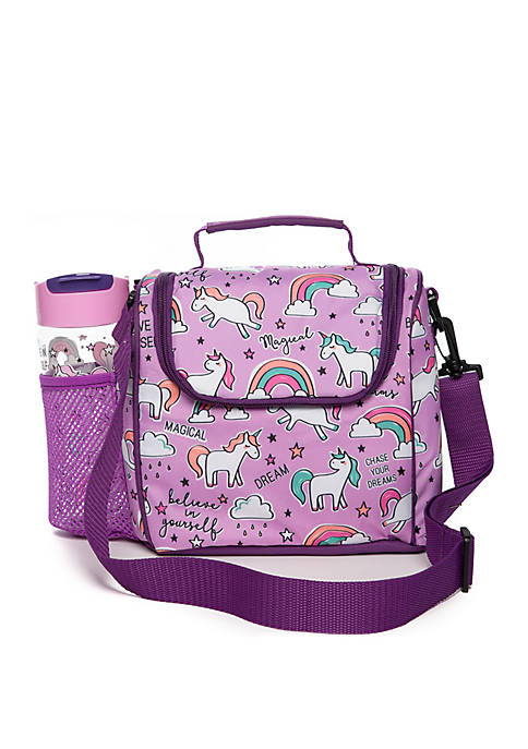Fit & Fresh Unicorn Doodle Insulated Lunch Bag