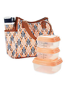 Westerly Insulated Lunch Bag Kit with Reusable Container Set and 20-oz. Water Bottle