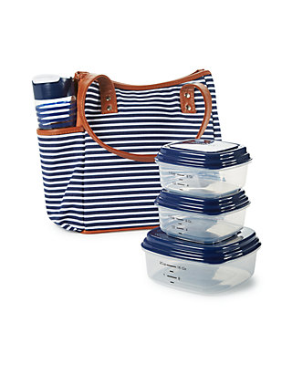 89cffd10588c Westerly Insulated Lunch Bag Kit with Portion Control Container Set and  20-oz. Water Bottle