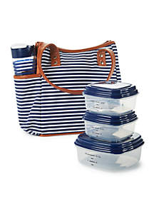 Westerly Insulated Lunch Bag Kit with Portion Control Container Set and 20-oz. Water Bottle