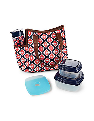 31f0b346ff57 Westerly Insulated Lunch Bag Kit with Tritan Water Bottle and Portion  Control Container Set