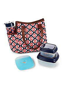 Westerly Insulated Lunch Bag Kit with Tritan Water Bottle and Portion Control Container Set