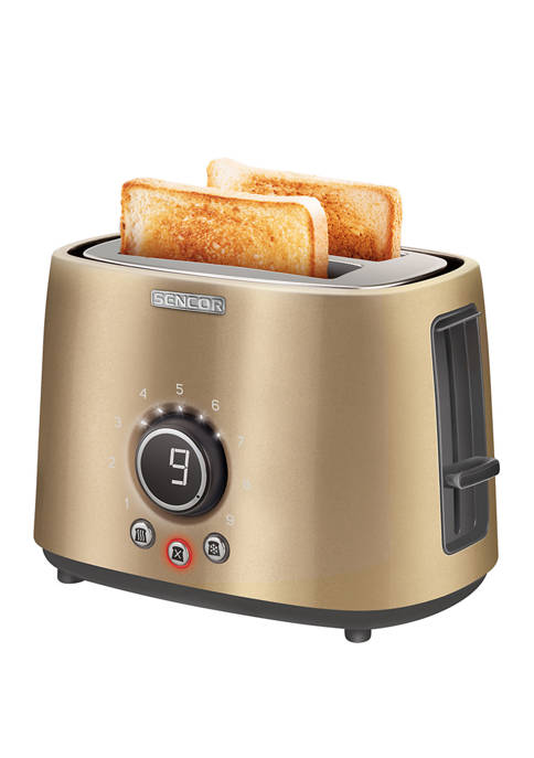 2 Slot Toaster with Digital Button and Rack