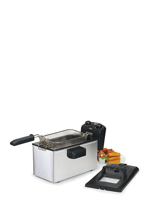 Elite 3.5-Quart Immersion Deep Fryer with Timer &