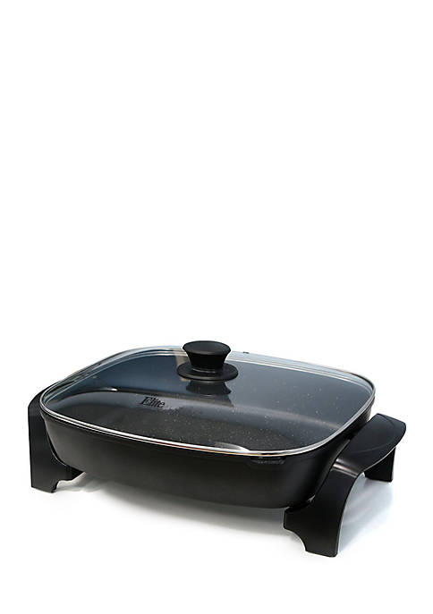 Elite Jumbo Electric Skillet with Easy Pour Spout